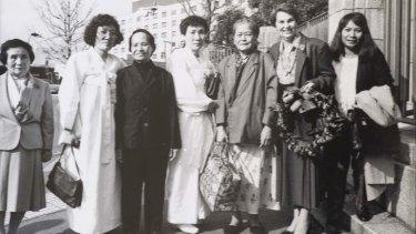Jan Ruff-O'Herne and the Korean comfort women visiting Japan circa 1993.