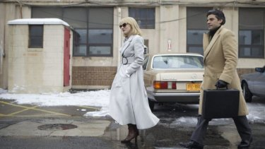 Tumbleweeds: Jessica Chastain and Oscar Isaac as husband and wife in <i>A Most Violent Year</i>.