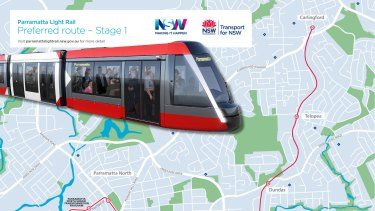 The new Parramatta light rail.