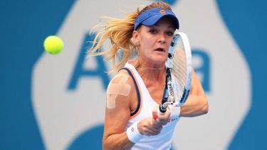 Early exit: Top seed Agnieszka Radwanska.