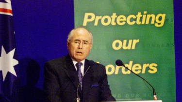 Talking tough, John Howard.