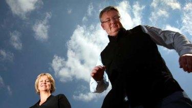 """Tricky programming"" ... Ann Mossop and Simon Longstaff."