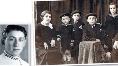 From little things . . . and early portrait of the Lowy family, with Frank second from left and as a 16-year-old in Israel.