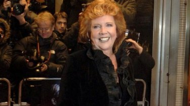 """British presenter Cilla Black poses at the premiere of """"Sleuth"""" in London back in 2007."""