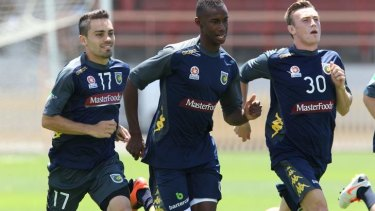 Homecoming: Bernie Ibini returned from his Chinese stint to rejoin his Central Coast Mariners teammates and faces Wellington Phoenix on Sunday.