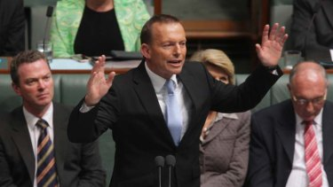 Tony Abbott's approval fell 2 percentage points to 41 per cent and his disapproval rose 2 points to 54 per cent.