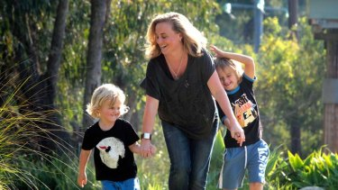''You do the job efficiently, then go home and do the home stuff and that's it'' ... scholarship winner Maree Sidey, who works part-time and has a supportive boss, with her boys Jesse, 3, and Gabe, 6.