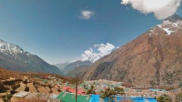 Taken from the Google Street View project footage, the village of Phortse is seen in Nepal's Khumbu region.
