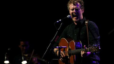 Glen Hansard performing at the Sydney Opera House.