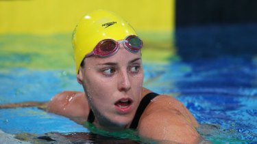 Busy schedule: Alicia Coutts after contesting the individual medley heats in Glasgow.