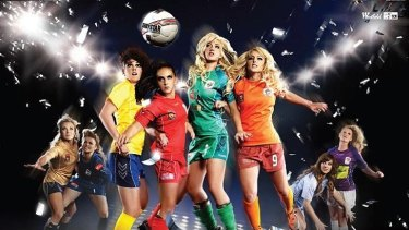 Australia's W-League football competition has used glamourous shots to promote the sport.