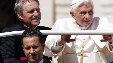 Under suspicion … Pope Benedict with Paolo Gabriele, bottom.