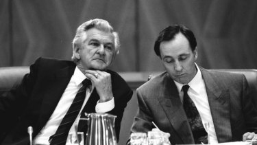 Two challenges: Bob Hawke and Paul Keating.