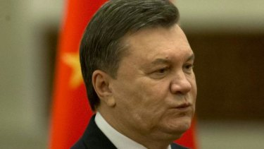 Under pressure: Ukraine President Viktor Yanukovych.