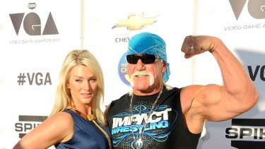 Back on the straight and narrow ... Hulk Hogan and wife Jennifer McDaniel.