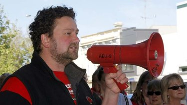 Victoria's education union vice-president Justin Mullaly.