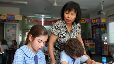 Asian skills: Rouse Hill teacher Miss Tan and her students.
