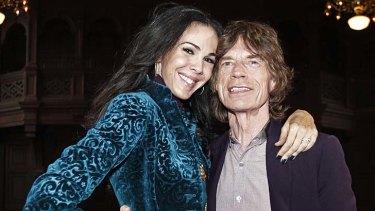 Mick Jagger pictured with his girlfriend L'Wren Scott.