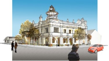 An artists' impression of what a smaller scale Guildford Hotel redevelopment might look like.