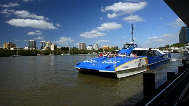 A teenage rower has been severely injured during a collision with a CityCat on the Brisbane River.