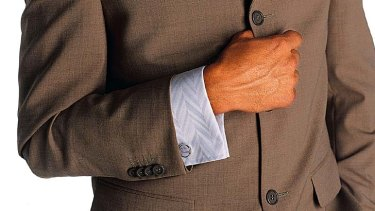 Cufflinks ... give insight into a man's personality.