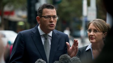 Daniel Andrews with Transport Minister Jacinta Allan has announced a second river crossing for Melbourne.