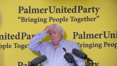 Clive Palmer holds a press conference at his Fairfax Festival.