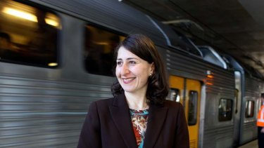 ''Track work is inconvenient'' ... Gladys Berejiklian.