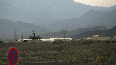 Under attack ... an anti-aircraft gun at the Natanz nuclear facility.