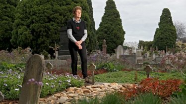 Helen Page, who looks after the gardens at Boroondara General Cemetery, in Kew.
