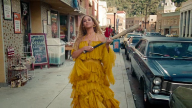 Beyonce in her <i>Hold Up</i> video clip, which is already shaping the zeitgeist of 2016.