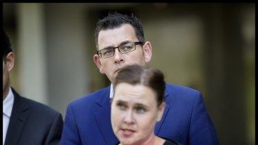 Premier Daniel Andrews and Emergency Services Minister Jane Garrett.