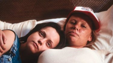 Killer companion: Christina Ricci (left) and Charlize Theron in <i>Monster.</i>