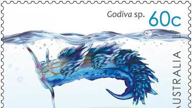 Godiva graces one stamp.