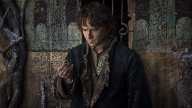 Reserved: Martin Freeman as Bilbo Baggins in Peter Jackson's <i>The Hobbit: The Battle of the Five Armies</i>.