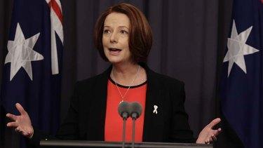 Setting the agenda ... Julia Gillard.