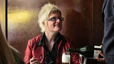 Christine Lewis at the Cellar Bar.