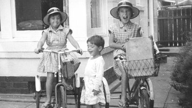 Haunting image ... the Beaumont children (from left) Arnna, Grant and Jane.