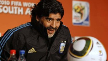 Diego Maradona ... believes God will help get his team over the line.
