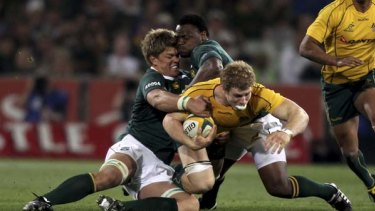 Rising star ... Wallabies openside flanker David Pocock is ably filling the big boots vacated by the great George Smith.
