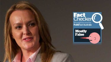 Fiona Scott's claim is mostly false.
