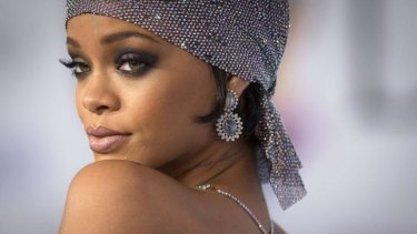 'Stripper pop' ... Rihanna's outfit that is too rude to show.