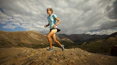 Diane Van Deren training at 3600 metres at Loveland Pass in Colorado.