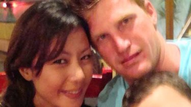 Troubled soul ... Cade Dallas with ex-wife Veny Amelia in Bali in 2010.