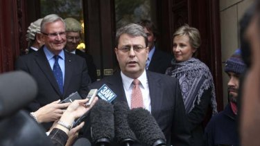 Bruce Guthri leaving the Victorian Supreme court.