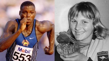 Leading edge ... Eamon Sullivan, Shane Gould, right, Carl Lewis, left, and Usain Bolt all broke world records in their respective disciplines but the pace of time improvements is now slowing.