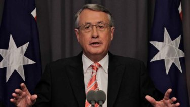 Boo ... Wayne Swan scariest person in Australia? Joe Hockey seems to think so.