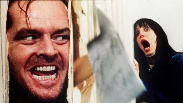 Jack Nicholson in Stephen King's The Shining.