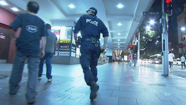 Police patrol George Street on December 22.
