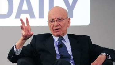 Tweet idea ... Rupert Murdoch called for US politicians to toughen gun laws.